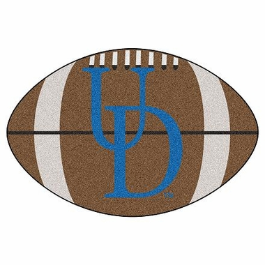 Delaware Football Shaped Rug