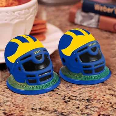 Delaware Helmet Ceramic Salt and Pepper Shakers