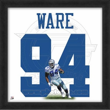 "Demarcus Ware, Cowboys UNIFRAME 20"" x 20"""