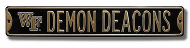 Demon Deacons w/ Logo Street Sign