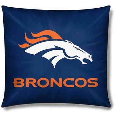 Denver Broncos 18 Inch Toss Pillow