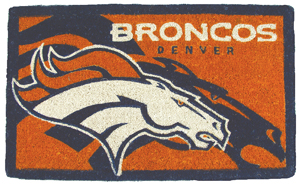 Denver Broncos 18x30 Bleached Welcome Mat