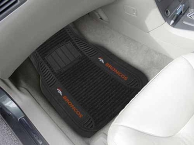 Denver Broncos 2 Piece Heavy Duty DELUXE Vinyl Car Mats