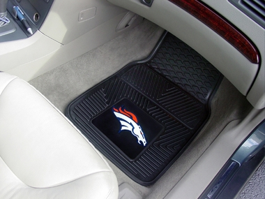 Denver Broncos 2 Piece Heavy Duty Vinyl Car Mats