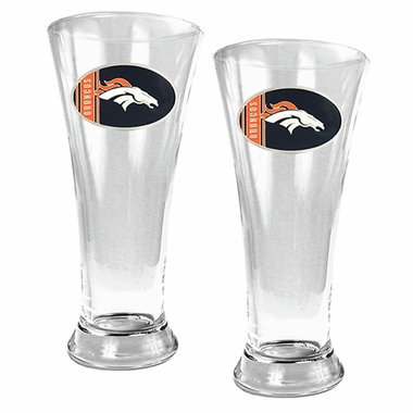 Denver Broncos 2 Piece Pilsner Glass Set