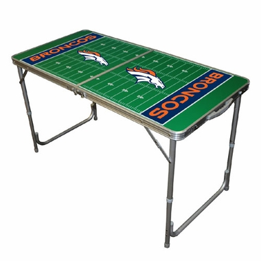 Denver Broncos 2 x 4 Foot Tailgate Table