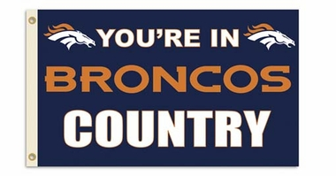 Denver Broncos 3' x 5' Flag (Country) (F)
