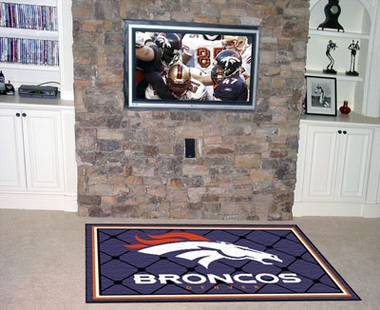 Denver Broncos 5 Foot x 8 Foot Rug