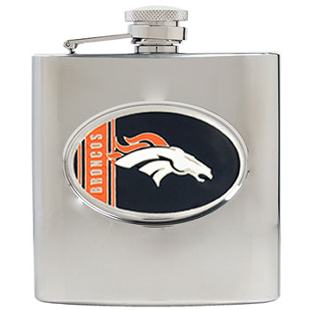 Denver Broncos 6 oz. Hip Flask