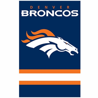 Denver Broncos Applique Banner Flag