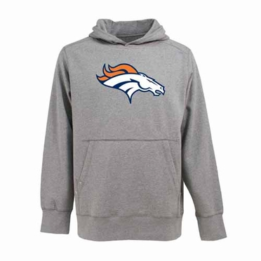 Denver Broncos Big Logo Mens Signature Hooded Sweatshirt (Color: Gray)