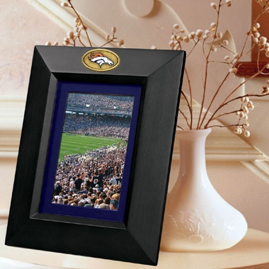 Denver Broncos BLACK Portrait Picture Frame