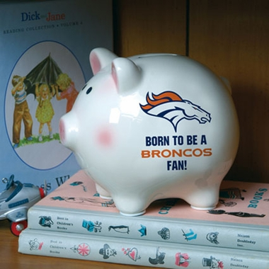 Denver Broncos (Born to Be) Piggy Bank