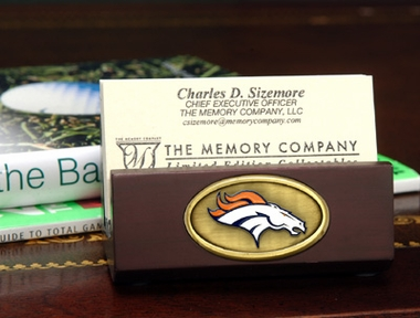 Denver Broncos Business Card Holder