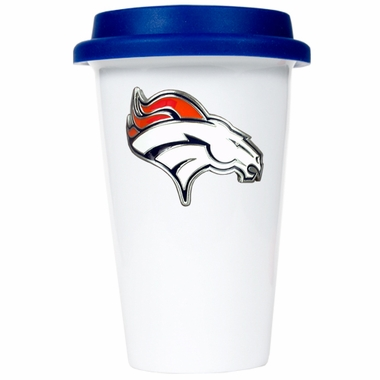 Denver Broncos Ceramic Travel Cup (Team Color Lid)