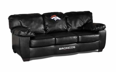 Denver Broncos Leather Classic Sofa