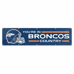 Denver Broncos Eight Foot Banner