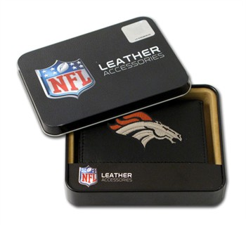 Denver Broncos Embroidered Leather Tri-Fold Wallet