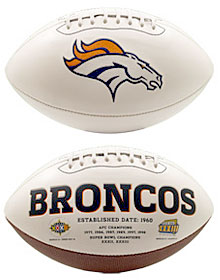 Denver Broncos Embroidered Signature Series Football