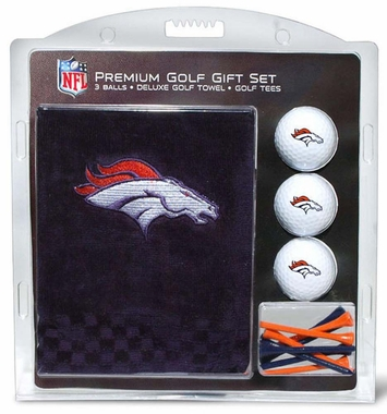 Denver Broncos Embroidered Towel Golf Gift Set
