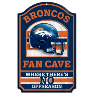 Denver Broncos Fan Cave Wood Sign