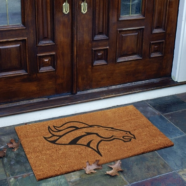 Denver Broncos Flocked Coir Doormat