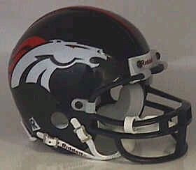 Denver Broncos Football Helmet - Mini Replica