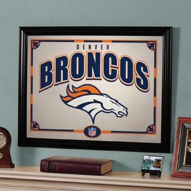 Denver Broncos Framed Mirror