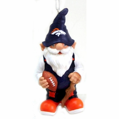 Denver Broncos Gnome Christmas Ornament