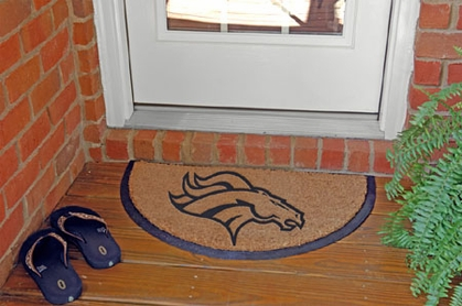 Denver Broncos Half Moon Door Mat
