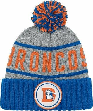 Denver Broncos High 5 Vintage Cuffed Pom Hat