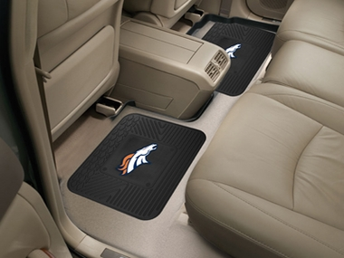 Denver Broncos SET OF 2 Heavy Duty Vinyl Rear Car Mats