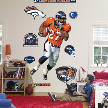 Denver Broncos Knowshon Moreno Fathead Wall Graphic