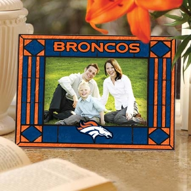 Denver Broncos Landscape Art Glass Picture Frame