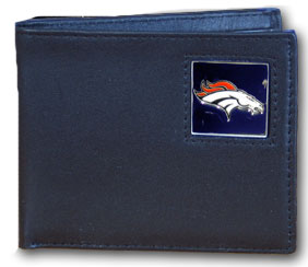 Denver Broncos Leather Bifold Wallet (F)