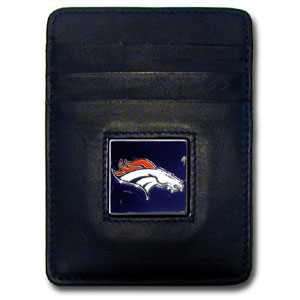 Denver Broncos Leather Money Clip (F)