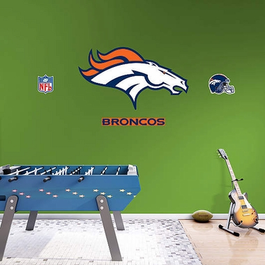Denver Broncos Logo Fathead Wall Graphic
