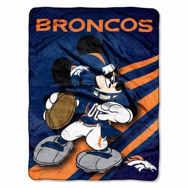Denver Broncos Mickey Mouse Microfiber Throw