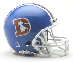 Denver Broncos Mini Replica Throwback Football Helmet