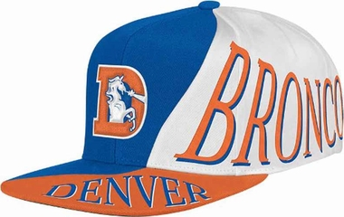 Denver Broncos Mitchell & Ness The Skew Retro Vintage Snap Back Hat