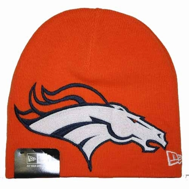 Denver Broncos New Era Big One Too Cuffless Knit Hat