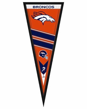 "Denver Broncos Pennant Frame - 13""x33"" (No Glass)"