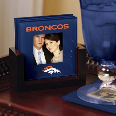 Denver Broncos Photo Coaster Set