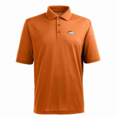 Denver Broncos Mens Pique Xtra Lite Polo Shirt (Color: Orange)
