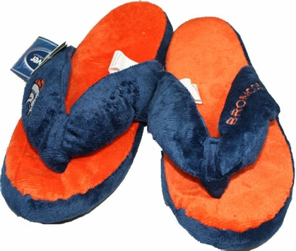 Denver Broncos Plush Thong Slippers