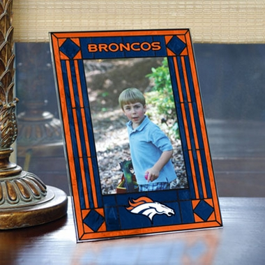 Denver Broncos Portrait Art Glass Picture Frame