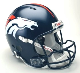 Denver Broncos Riddell Full Size Authentic Revolution Helmet
