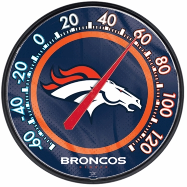 Denver Broncos Round Wall Thermometer