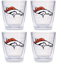 Denver Broncos Set of FOUR 12 oz. Tervis Tumblers