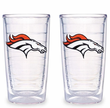 Denver Broncos Set of TWO 16 oz. Tervis Tumblers